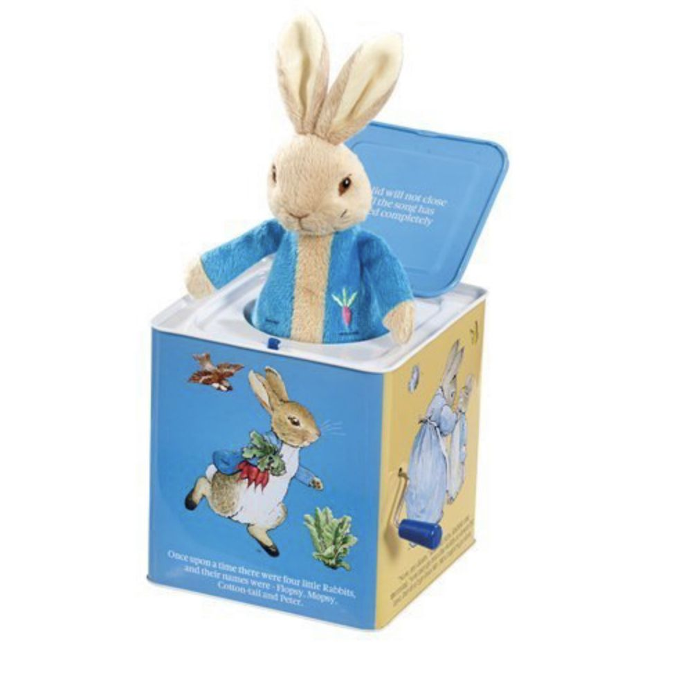 peter rabbit jack in a box toy