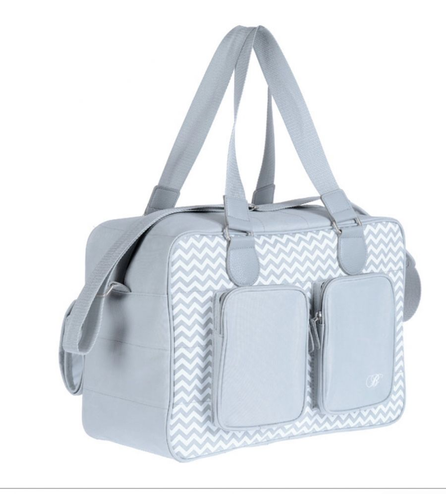 efab7a8e0117c My Babiie Billie Faiers Grey Deluxe Baby Changing Bag