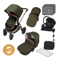 stylish i-size travel system bundle with isofix base – stomp v4 special edition