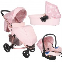 mb200 pink rose gold floral travel system