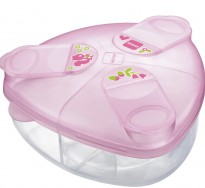 mam milk powder storage box in pink