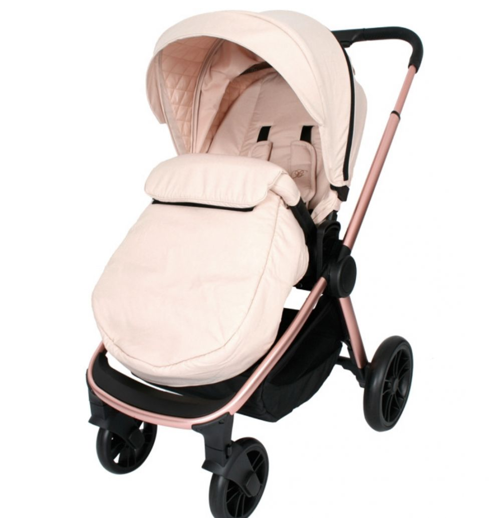 my babiie mb400 pushchair rose gold blush melange