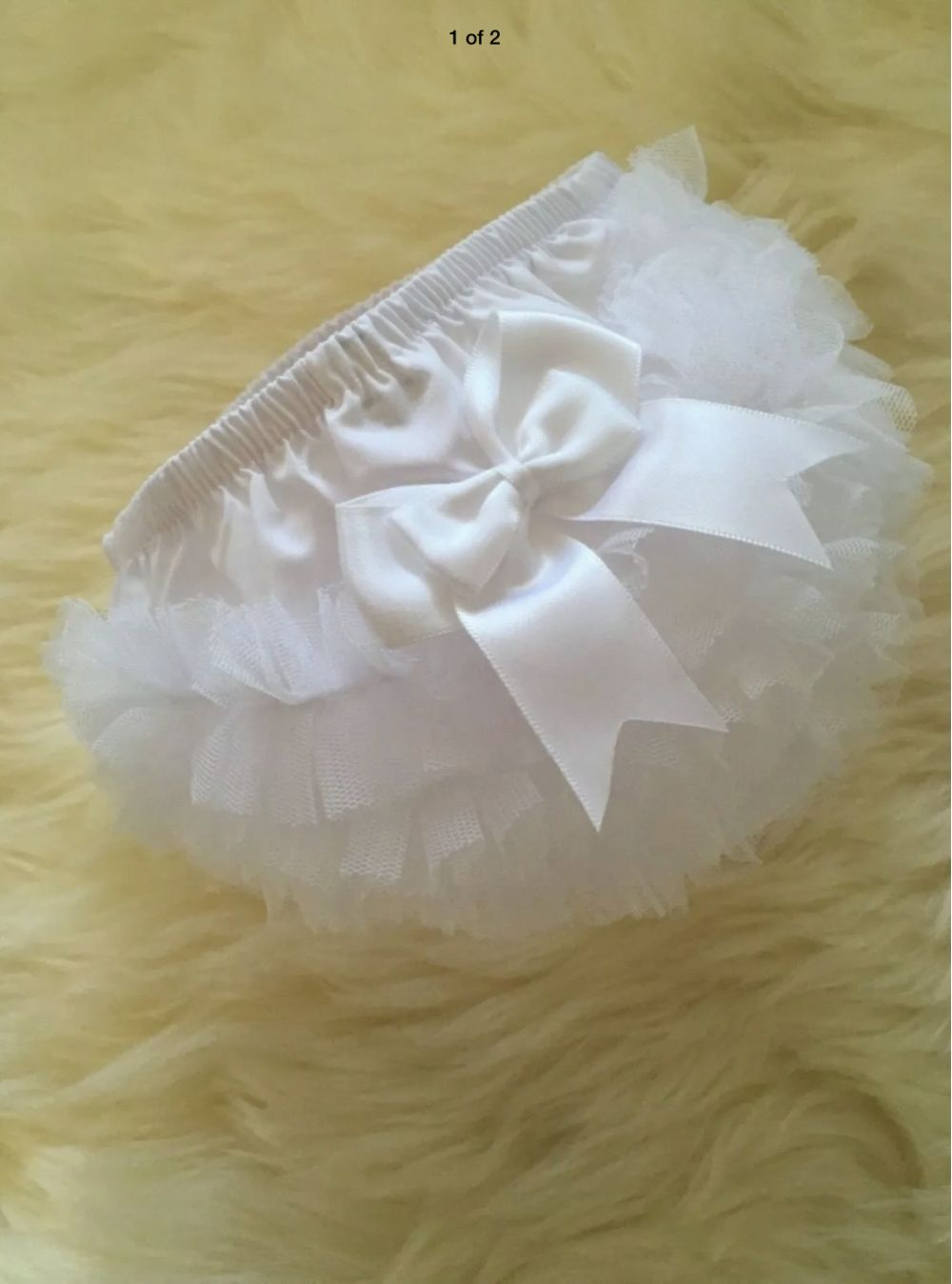 frilly baby girls tutu pants knickers in white