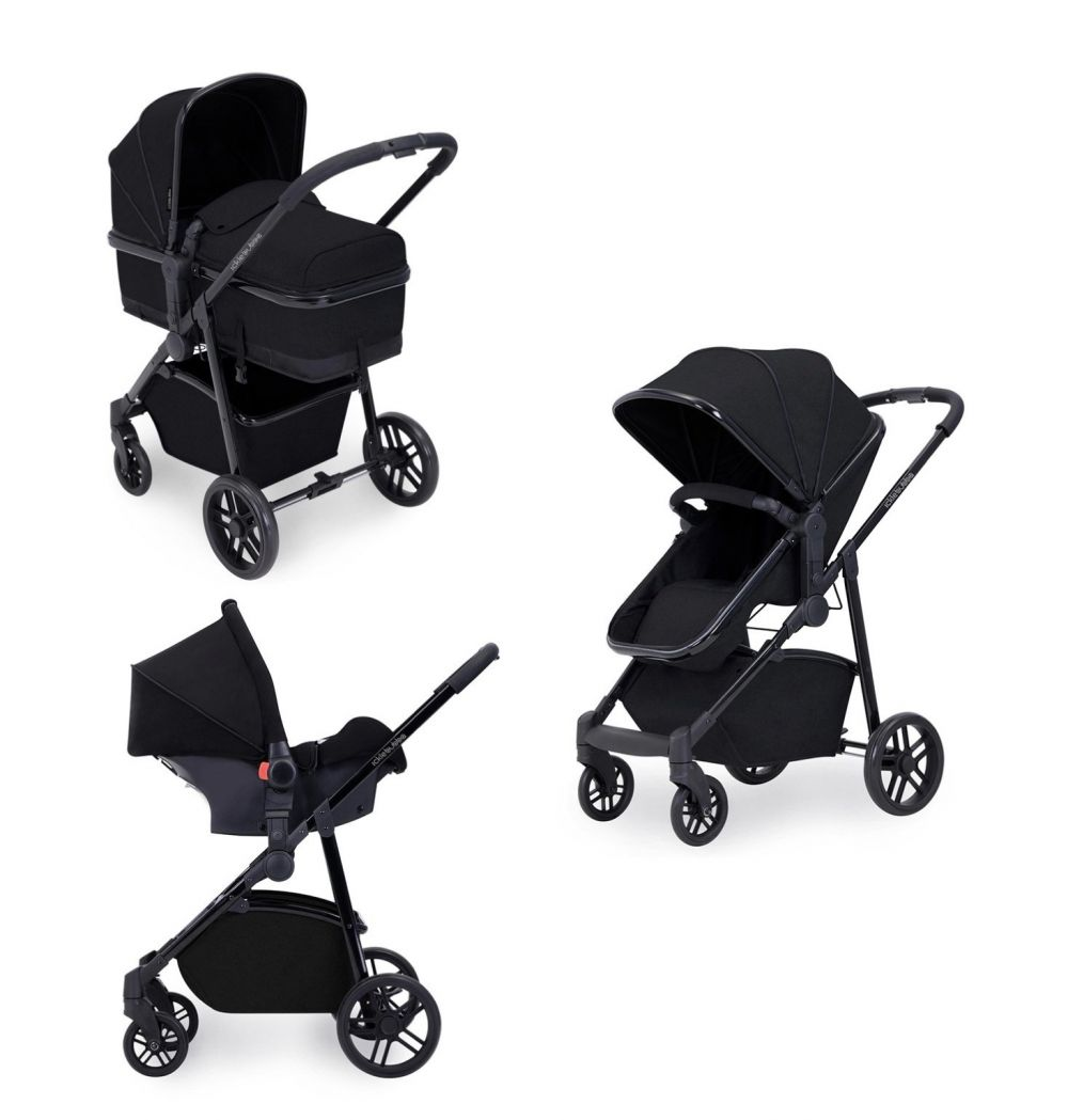 ickle bubba moon  3 in 1 travel system in black
