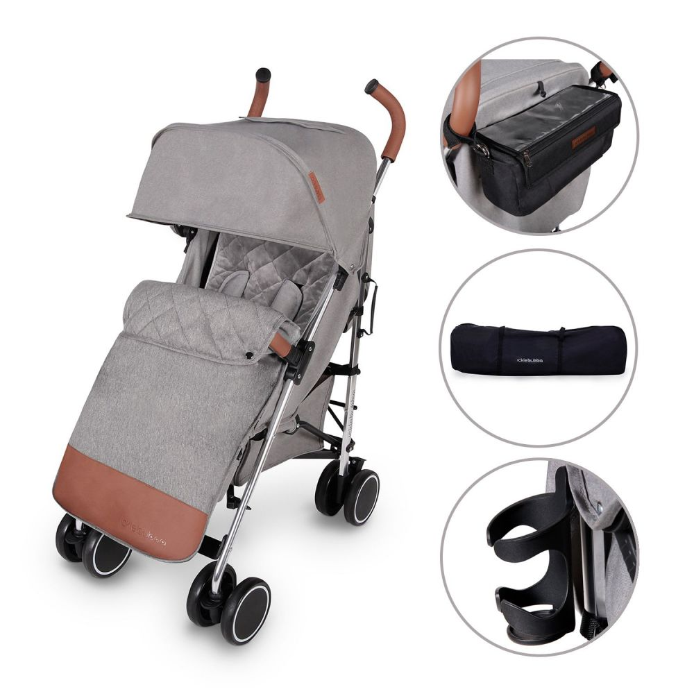 discovery prime stroller pushchair in grey