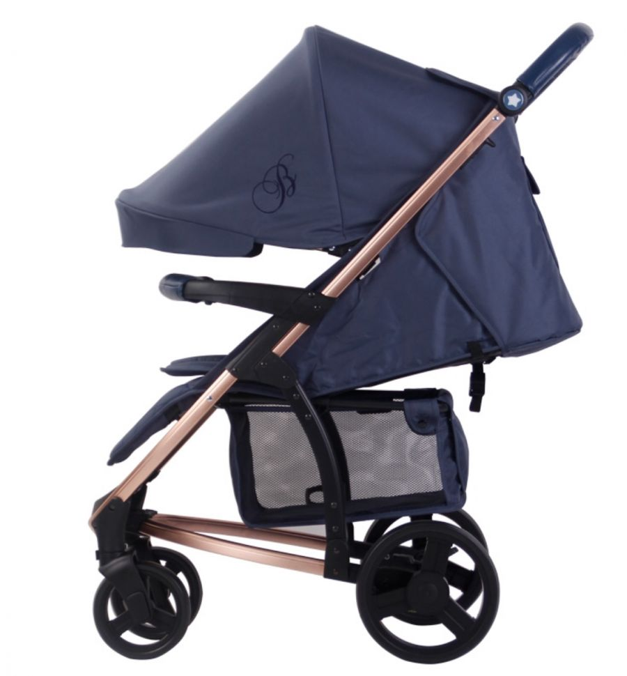 my babiie billie faiers mb200 pushchair in navy rose gold
