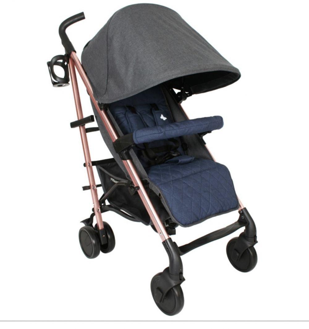 katie piper mb51 rose gold navy grey stroller pushchair