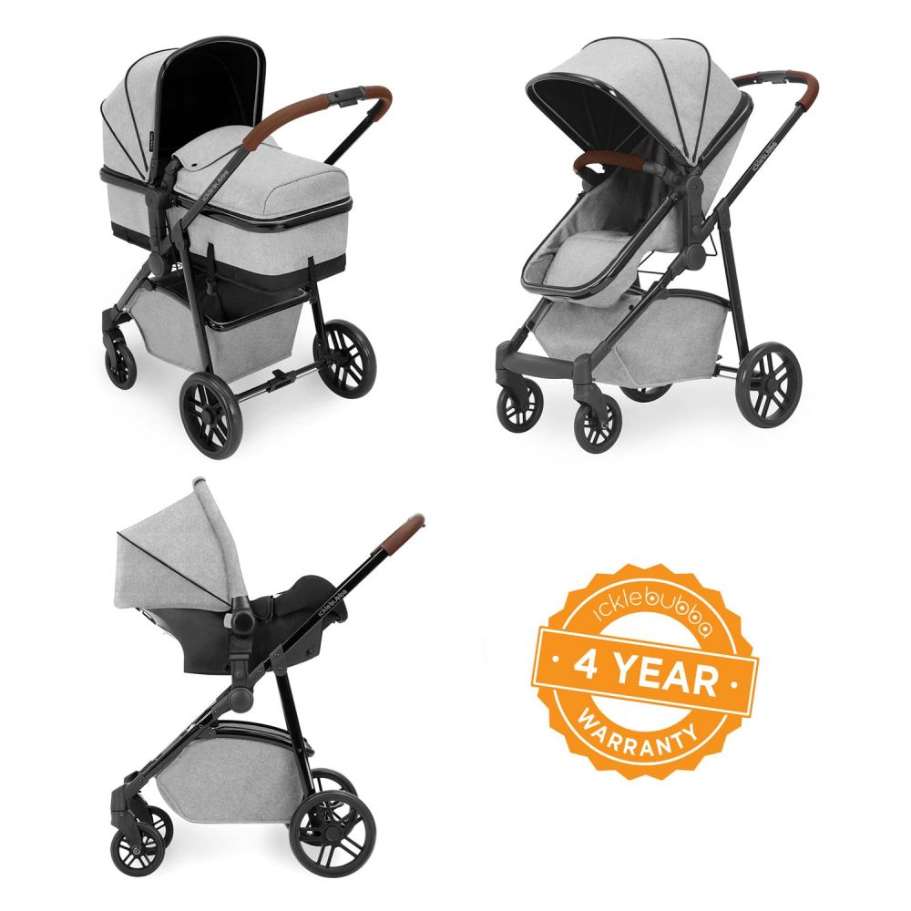 ickle bubba moon 3 in 1 travel system in space grey
