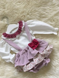 spanish syle baby girls jam pants dungerees and blouse