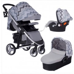 my babiie samantha faiers mb200+ charcol grey chevron travel system