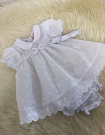 traditional style baby girls cotton dress and pants