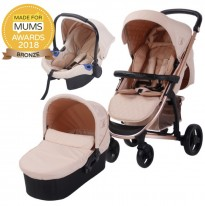 my babiie mb200+ travel system rose gold blush
