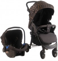 my babiie mb30 rose gold black pushchair car seat travel system