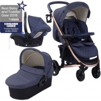 billie fairers mb200+ navy blue rose gold travel system