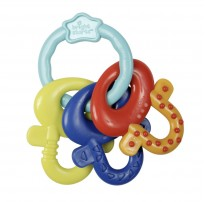 bright starts license to drool teething keys bold colours