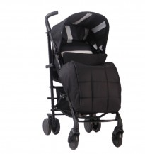 am to pm mb51 charcoal stripes rise gold pushchair
