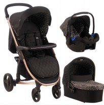 my babiie samantha faiers mb200+rose  black aligator travel system