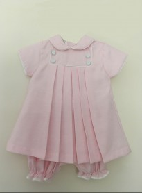 pretty originals pink pleated dress with knicker bockers headband