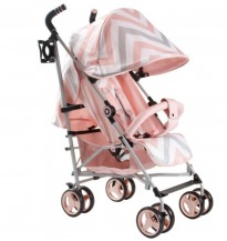 my babiie mb02 pink chevron oushair stroller