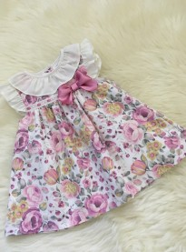 spanish style baby girls floral print summer dress