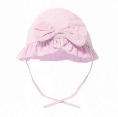 baby girls cotton sun hat in pink bow