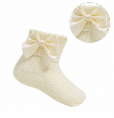 baby girls lemon bow ankle socks
