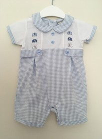 Baby Boy Knitted Navy Romper Set WAS £18.99 Now £12.99