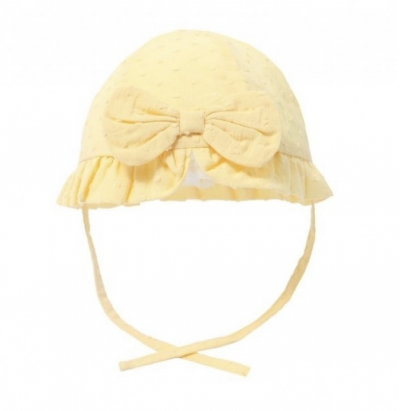 baby girls lemon sun hat with bow